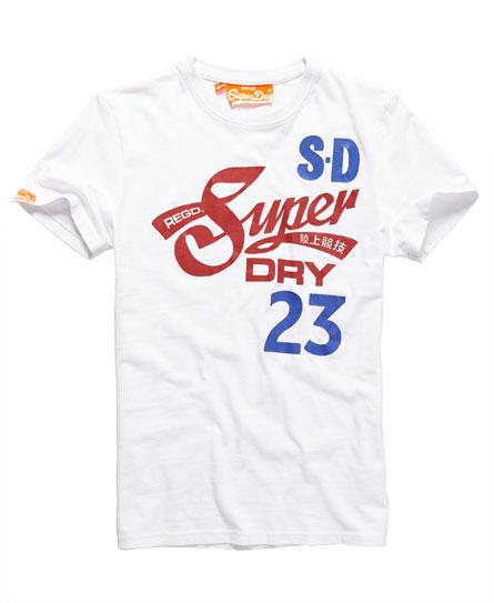 美國百分百【Superdry】極度乾燥 T恤 上衣 T-shirt 短袖 短T 白色 S M號 E695