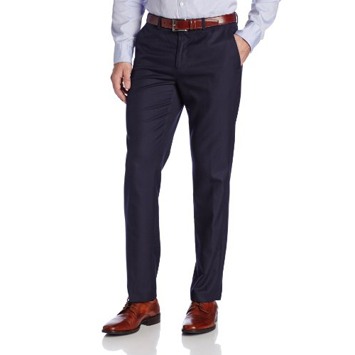 美國百分百【Calvin Klein】長褲 CK 西裝褲 直筒褲 休閒褲 上班 合身 窄版 深藍 36腰 E803