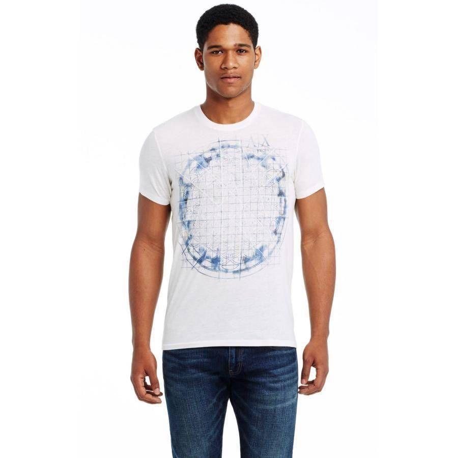 美國百分百【Armani Exchange】T恤 AX 短袖 上衣 logo 圖案 T-shirt 白 S號 E819