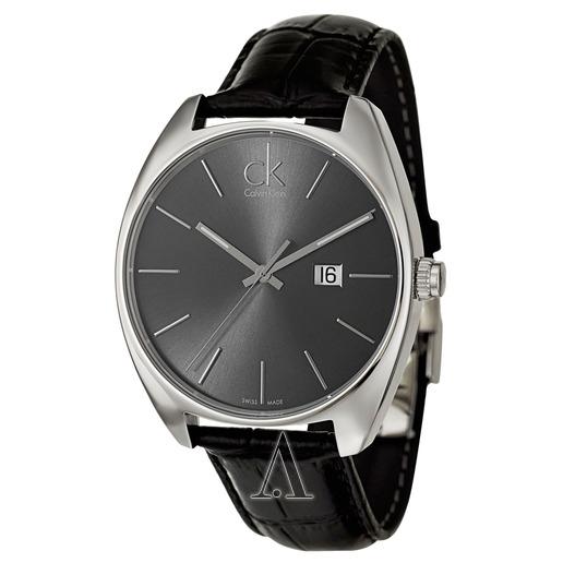 美國百分百【Calvin Klein】配件 CK 手錶 腕錶 皮質錶帶 大錶面 瑞士 石英 簡約 不鏽鋼 男 E852