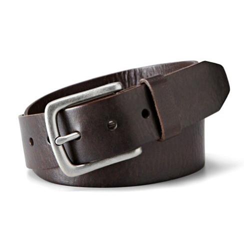 美國百分百【全新真品】FOSSIL 皮帶 配件 腰帶 咖啡色 真皮 復古 logo 男 深褐色 32 42腰 E897