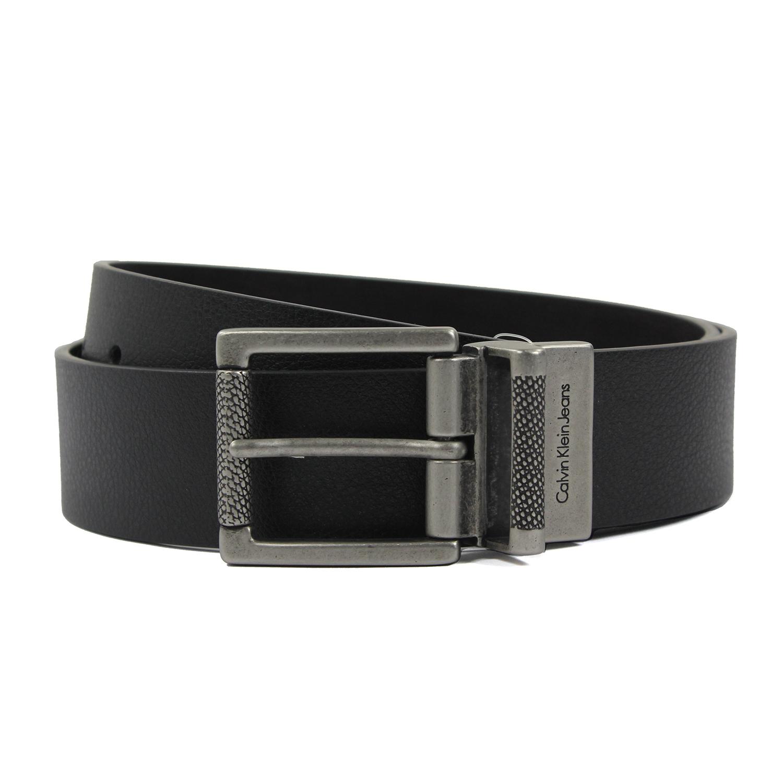 美國百分百【Calvin Klein】皮帶 CK 配件 腰帶 黑色 咖啡 經典款 男 兩用 36 38 40腰 E906