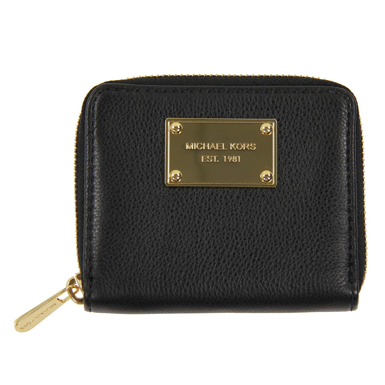 美國百分百【Michael Kors】皮夾 MK 小包 手拿包 隨身包 晚宴包 錢包 短夾 皮質 零錢包 黑色 C687