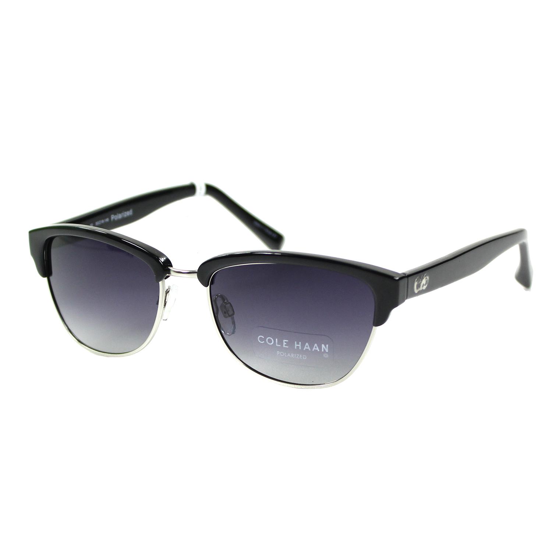 美國百分百【COLE HAAN】太陽眼鏡 墨鏡 配件 眼鏡 抗UV 時尚 潮流 膠框 黑框 灰色鏡片 男 女 F056
