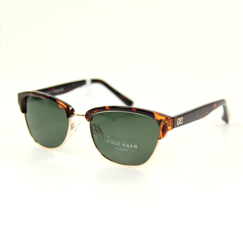 美國百分百【COLE HAAN】太陽眼鏡 墨鏡 配件 眼鏡 抗UV 時尚 潮流 膠框 玳瑁 琥珀 綠鏡 男 女 F057