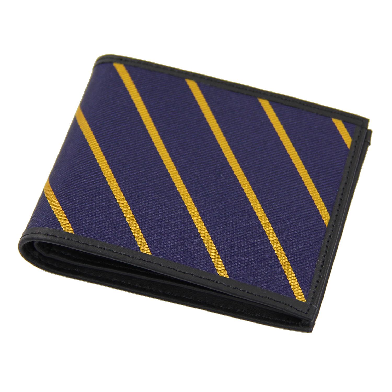 美國百分百【Brooks Brothers】布克兄弟 皮夾 短夾 錢包 皮包 經典 帆布 證件 鈔票 男 深藍 F088
