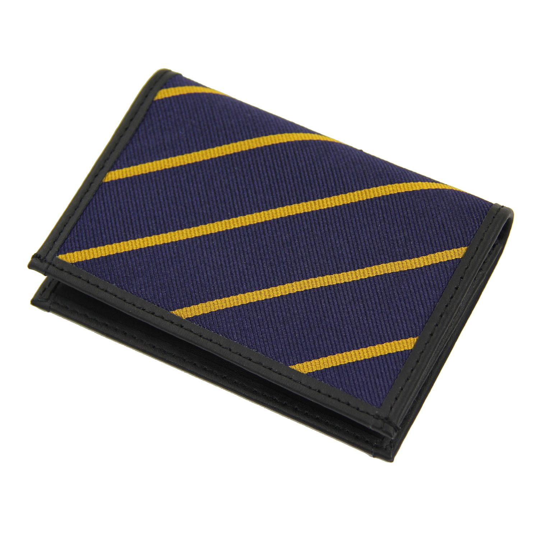 美國百分百【Brooks Brothers】布克兄弟 皮夾 短夾 車票夾 經典 帆布 證件夾 卡片夾 男 深藍 F089