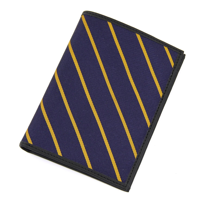 美國百分百【Brooks Brothers】布克兄弟 護照夾 皮夾 短夾 車票夾 帆布 證件夾 卡片夾 深藍 F090