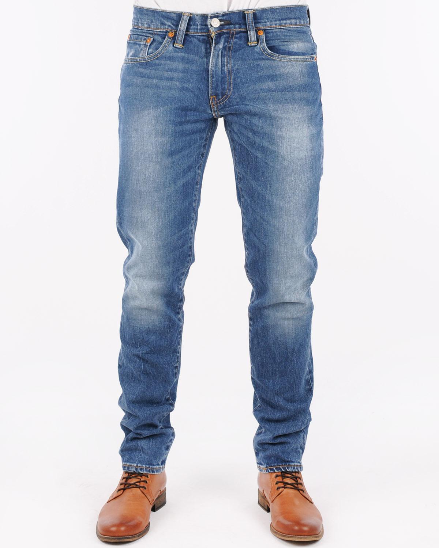 美國百分百【全新真品】Levis 511 Slim Fit 男 牛仔褲 直筒褲 合身 單寧 藍 刷白 28腰 E264