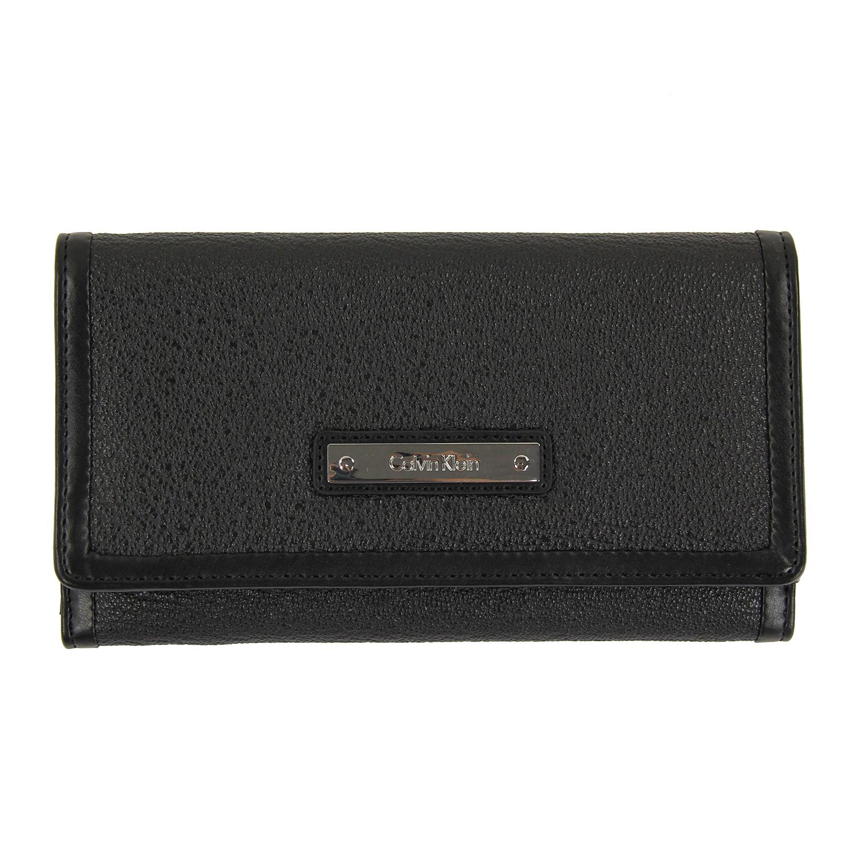 美國百分百【全新真品】Calvin Klein 皮夾 CK 長夾 真皮 女包 皮革 證件夾 手拿包 錢包 女 F099