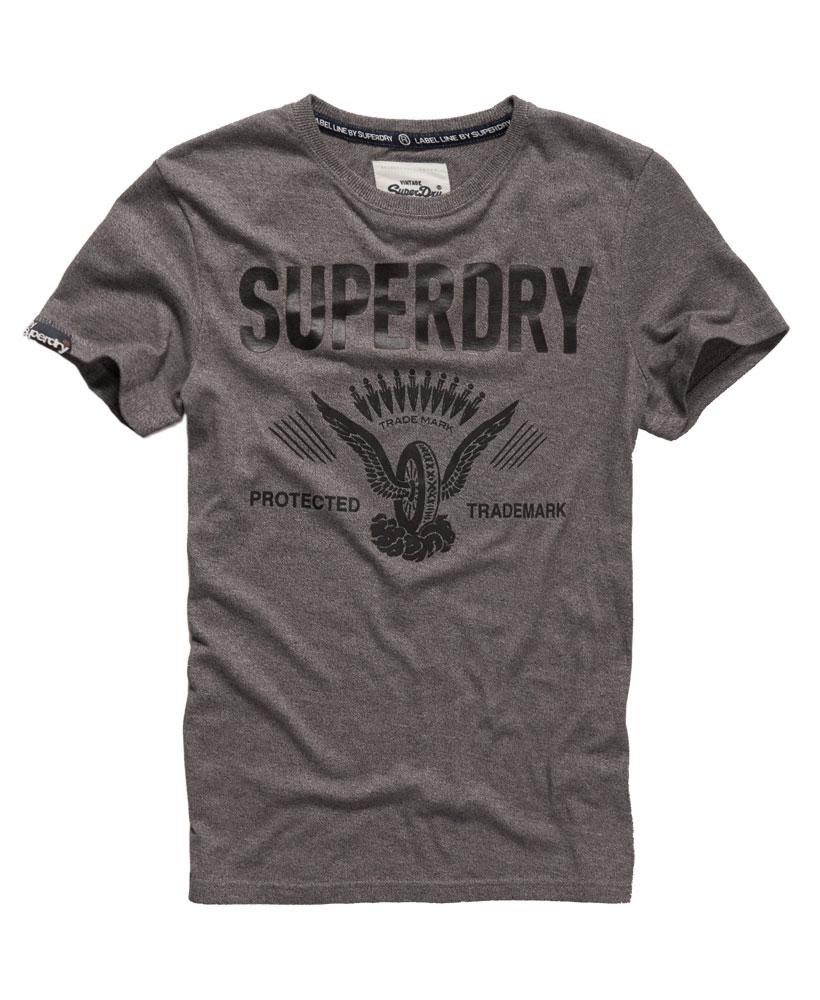 美國百分百【Superdry】極度乾燥 T恤 上衣 T-shirt 短袖 短T 老鷹 輪胎 圓領 深灰 復古 XL XXL號 F228