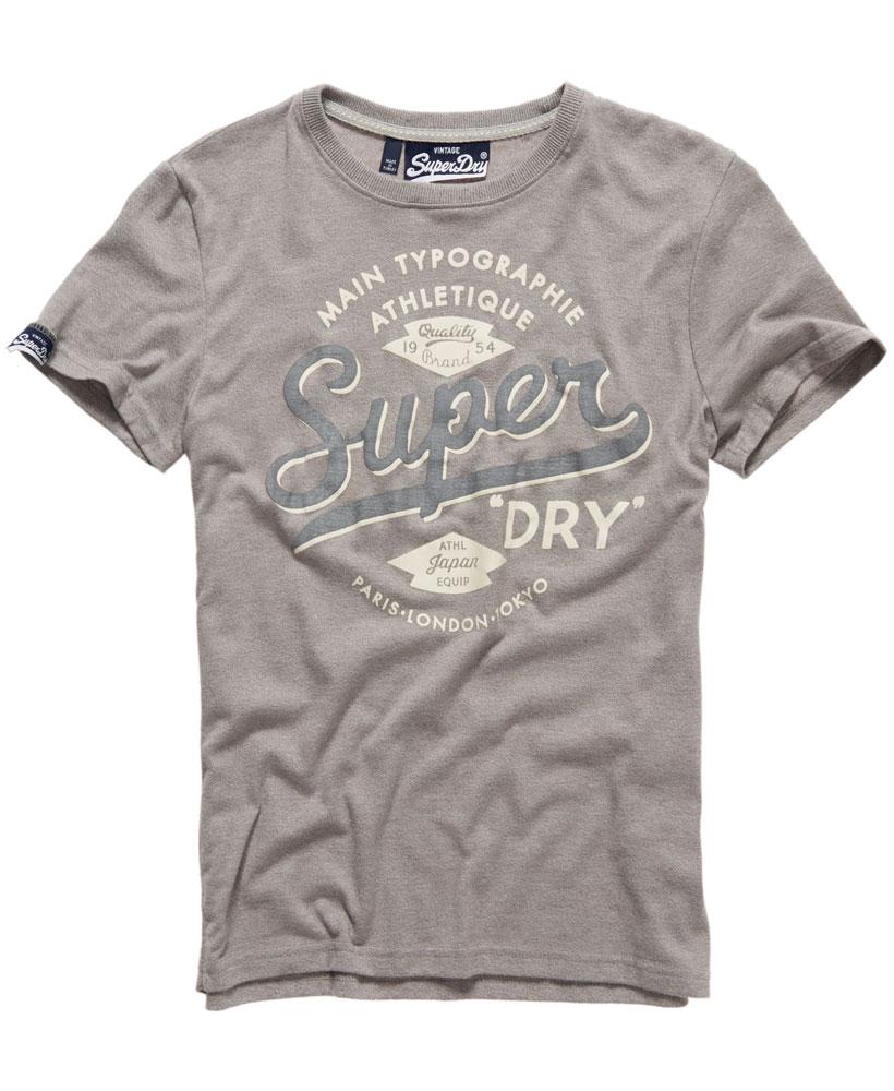 美國百分百【Superdry】極度乾燥 T恤 上衣 T-shirt 短袖 短T 圓領 經典 淺灰 復古 S M XL XXL號 F229