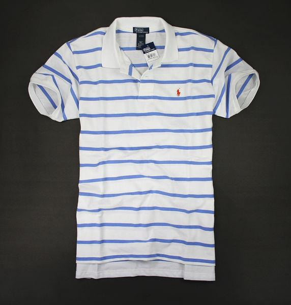 美國百分百【驚喜價】Ralph Lauren RL 男生 淡藍 條紋 短袖 網眼 polo衫 白色 S號 人氣 優惠
