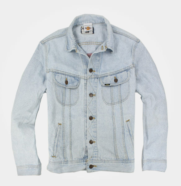 美國百分百【全新真品】LEE 淺藍 牛仔 lee Hard Rock Cafe 外套 夾克 立領 罩衫 復古 免運 L號