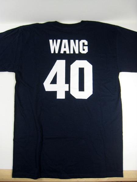 美國百分百【全新真品】MAJESTIC MLB 紐約洋基隊 40號 王建民 男生 T-SHIRT T恤 球衣