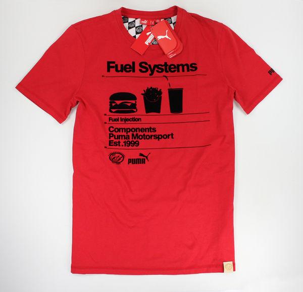 美國百分百【全新真品】Puma 男版 T-shirts 短T 個姓T 潮T 運動T 紅色 美國寄件 漢堡