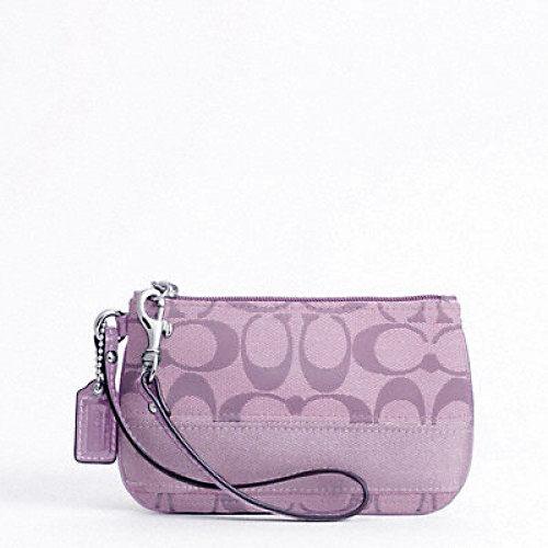 美國百分百【全新真品】COACH 45608 手提扁包 手拿包 手抓包 化妝包 淡紫 超取