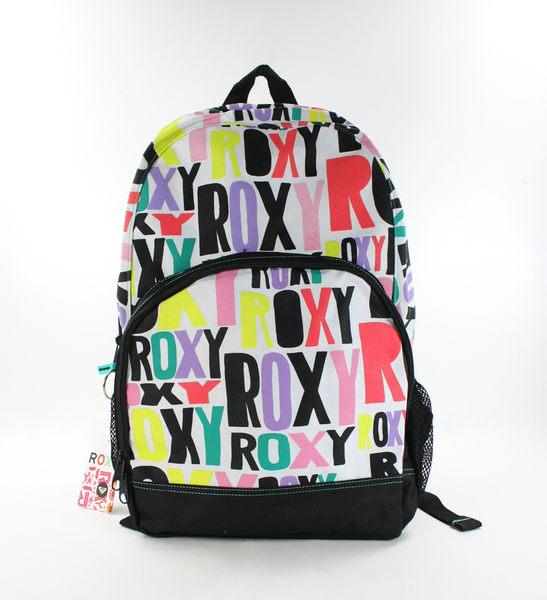 美國百分百【全新真品】ROXY 女生 後背包 學生包 外出包 上課 逛街 約會 logo 字母 貨付