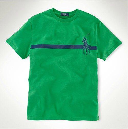 美國百分百【全新真品】Ralph Lauren 男款 綠色 短袖 上衣 T恤 大馬logo s RL POLO 超取 y