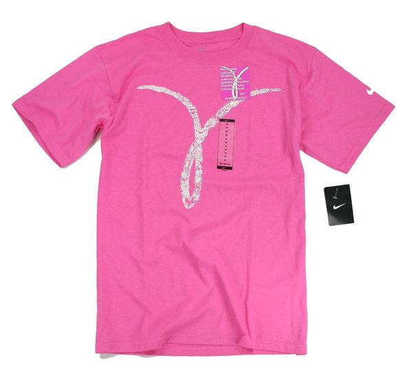 美國百分百【全新真品】NIKE 男 女 公益 義賣 T恤 T-shirt 短袖 上衣 粉紅色 超商取貨