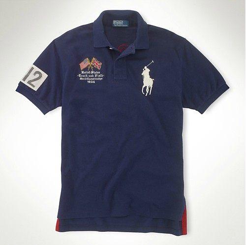 美國百分百【全新真品】Ralph Lauren RL 奧運 男 英國 國旗 大馬 短Polo衫 藍色 M L號 超取