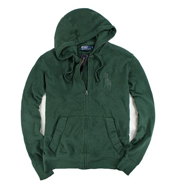 美國百分百【驚喜特價】Ralph Lauren RL polo 大馬 貼布 網眼 外套 連帽 夾克 帽T 綠色 S M L號