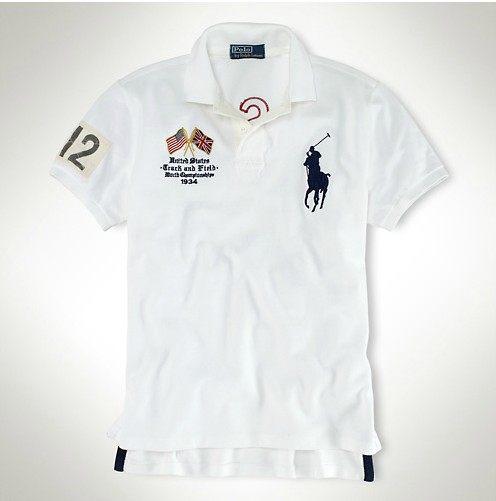 美國百分百【全新真品】Ralph Lauren RL 男 英國 奧運 大馬 短袖 Polo衫 白色 上衣 L號 C253