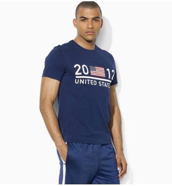 美國百分百【全新真品】Ralph Lauren RL 男 奧運 短 T-shirrt T恤 國旗 2012 Polo 藍色 XS S M號 貨付