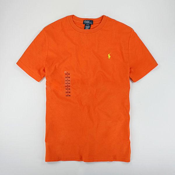 美國百分百【全新真品】Ralph Lauren RL Polo 圓領 短袖 T恤 T-shirt Tee 亮橘 XS S號 夏季特價品 y