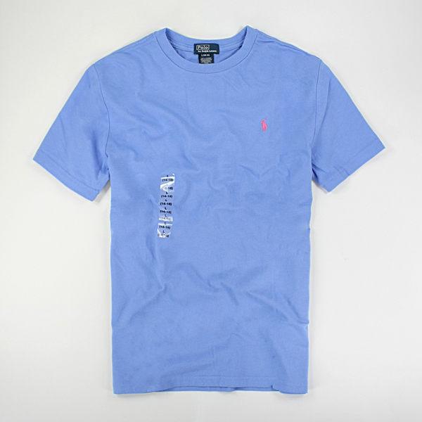 美國百分百【全新真品】Ralph Lauren RL Polo 圓領 短袖 T恤 T-shirt Tee 淡藍 XS S號 夏季特價品 y