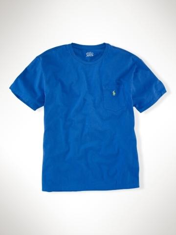 美國百分百【全新真品】Ralph Lauren RL Polo 純棉 口袋 造型 T恤 tshirt 寶藍 短T M L y
