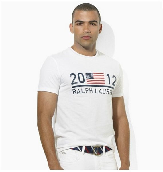 美國百分百【全新真品】Ralph Lauren RL 奧運 短 T-shirrt T恤 國旗 2012 Polo 白色 M L號 超取