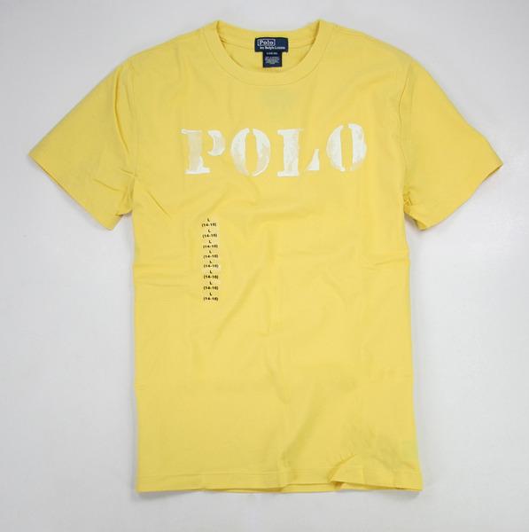 美國百分百【全新真品】Ralph Lauren RL 人氣特價 短袖 刷白 POLO T恤 T-shirt 男T 黃色 XS S