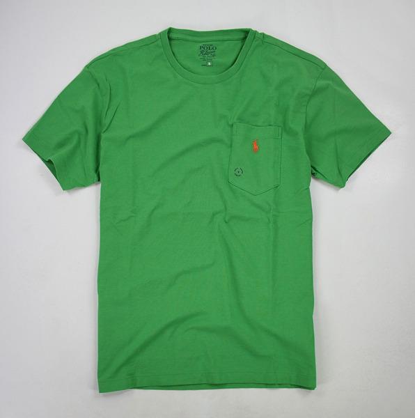 美國百分百【全新真品】Ralph Lauren RL Polo 小口袋 造型 T恤 素面 tshirt 草綠色 S號 超取 y