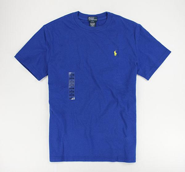 美國百分百【全新真品】Ralph Lauren RL Polo 圓領 短袖 T恤 T-shirt Tee 寶藍 XS號 夏季特價品 y