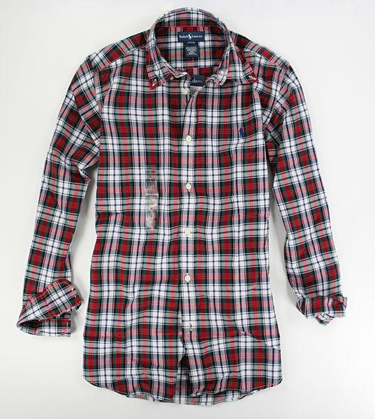 美國百分百【全新真品】Ralph Lauren RL 男生 紅色 格紋 長袖 polo 小馬 襯衫 XS S號 a y 超低優惠
