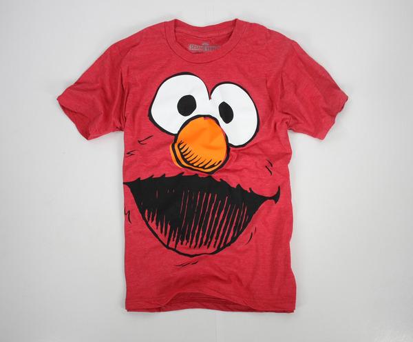 美國百分百【全新真品】SESAME STREET 熱賣 ELMO 芝麻街 搞怪 大臉 潮T 短袖 T恤 紅 美國寄件