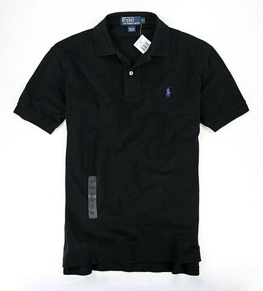 美國百分百【全新真品】Ralph Lauren 男款 RL 黑色 短袖 上衣 POLO衫 素面 網眼 專櫃款 超取