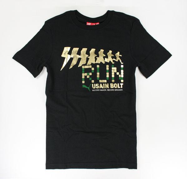 美國百分百【全新真品】Puma 男版 T-shirts 短T恤 個姓T 潮 運動T 上衣 黑色 純棉 美國 S號