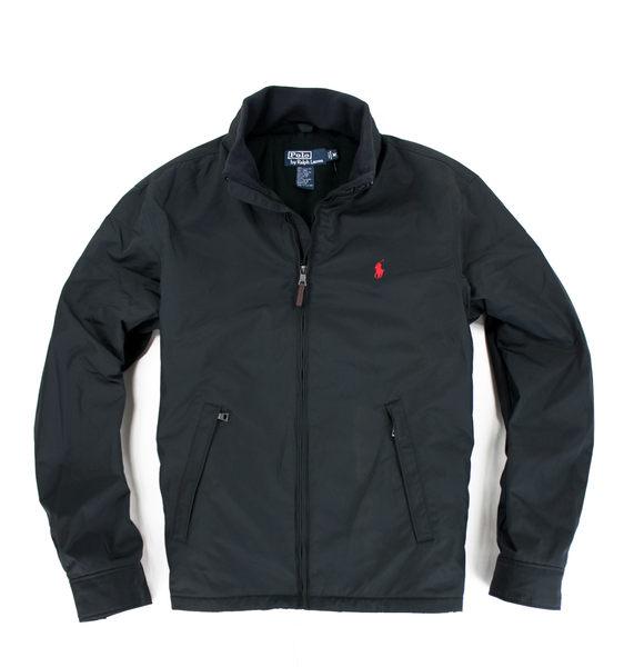 美國百分百【全新真品】Ralph Lauren 男款 立領夾克 連帽外套 RL polo 黑色 經典款 超保暖 B593