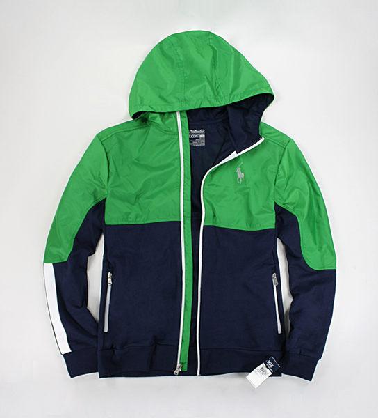 美國百分百【全新真品】Ralph Lauren RL 夏季薄款 polo 運動 連帽外套 騎士夾克 深綠藍雙色 S號
