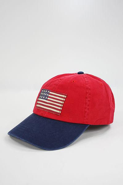 美國百分百【全新真品】Ralph Lauren 貼布國旗 仿舊 刺繡 usa 小馬 配色 棒球帽 休閒 男帽 Polo