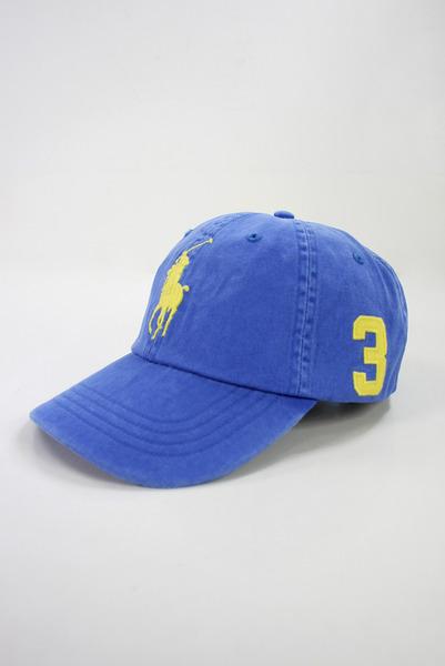 美國百分百【驚喜特價】Ralph Lauren RL 帽子 POLO 黃 大馬 男 帽 棒球帽 遮陽帽 寶藍 超取
