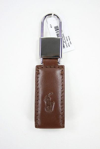 美國百分百【全新真品】Ralph Lauren RL POLO 馬 皮革 鑰匙圈 長方形 簡約有型 送禮 驚喜特價