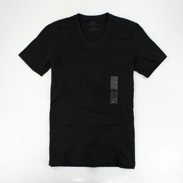 美國百分百【全新真品】Calvin Klein CK V領 彈性 黑色 男 短袖 T恤 T-shirt Tee 素T 現貨 XS號