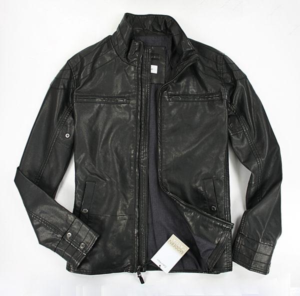 美國百分百【全新真品】Calvin Klein 男款 皮衣 夾克 立領 外套 黑色 CK 帥氣騎士 M號 免運