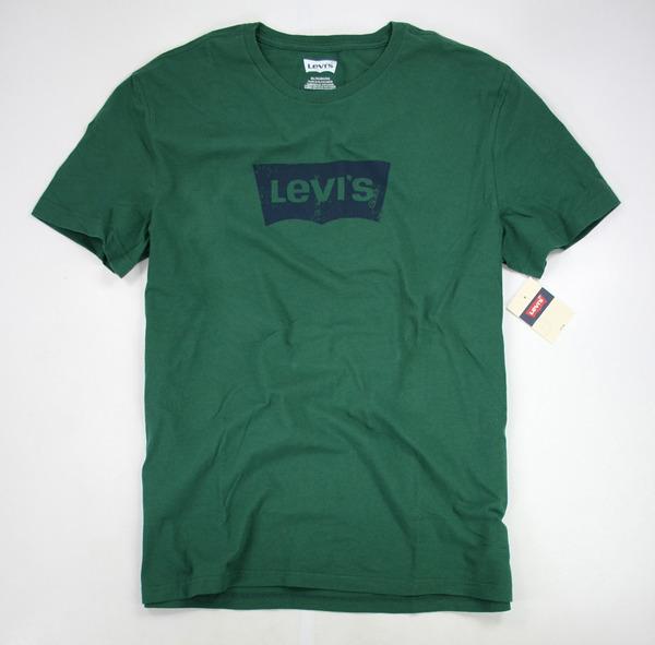 美國百分百【全新真品】Levis 經典 復古 logo 綠色 潮T 短T 簡約T 風格 T恤 XL號 大尺碼 大尺寸