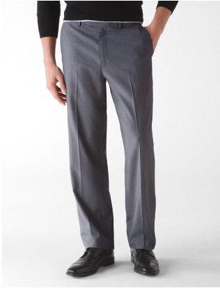 美國百分百【Calvin Klein】專櫃款 高質感 嫘縈 西裝褲 長褲 上班 紳士褲 灰格紋 34 36
