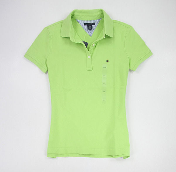 美國百分百【全新真品】Tommy Hilfiger TH 熱賣 春夏 女款 短袖 polo衫 棉質 亮綠 亮橘 亮黃 XS號