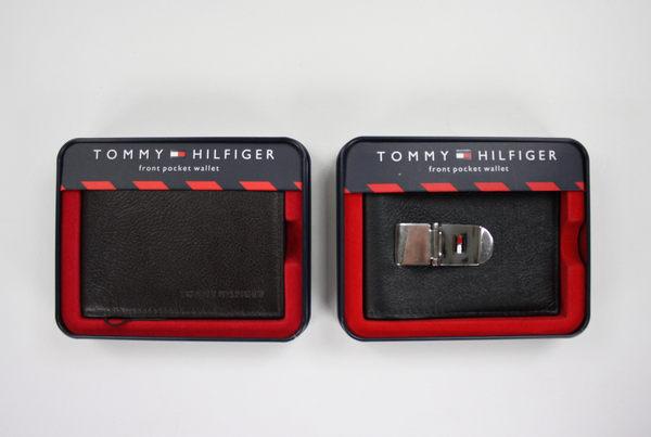 美國百分百【全新真品】Tommy Hilfiger TH 真皮 證件夾 名片夾 車票夾 皮夾 短夾 咖啡色 超取